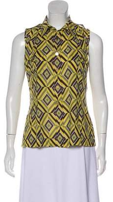 Tory Burch Sleeveless Button-Up Blouse