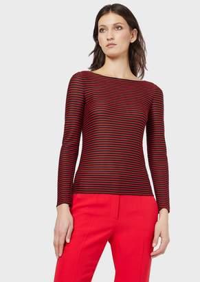 Giorgio Armani Striped Jersey T-Shirt
