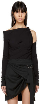 Alexander Wang Black Long Sleeve Constructed Corset T-Shirt