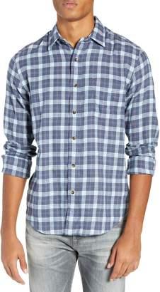 Faherty Brushed Alpine Regular Fit Flannel Shirt