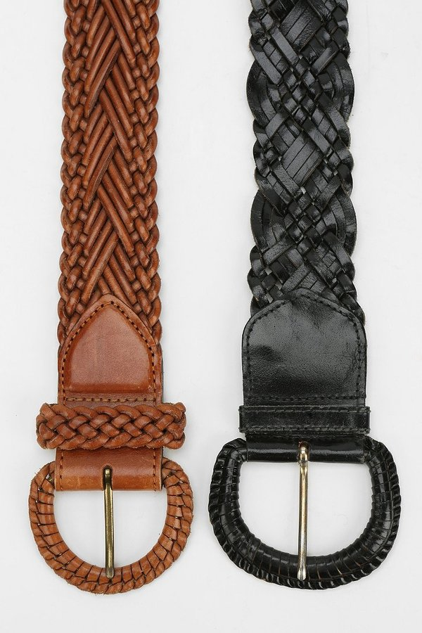 Urban Outfitters Urban Renewal Vintage Wide Braided Belt