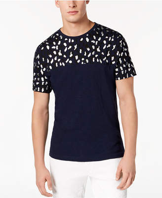 INC International Concepts I.n.c. Men's Foil Leopard T-Shirt, Created for Macy's