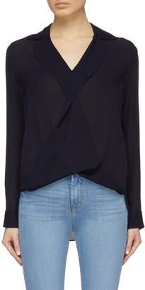 L'Agence 'Rita' mock wrap silk georgette blouse