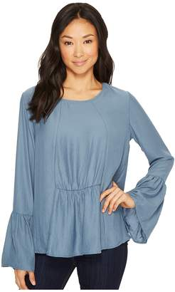 Bobeau B Collection by Lee Flare Sleeve Blouse Women's Blouse