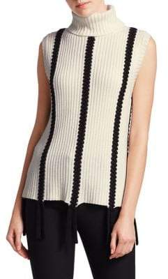 Derek Lam 10 Crosby Sleeveless Turtleneck Sweater