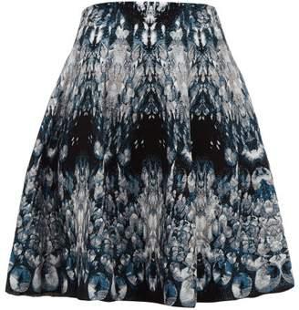 Alexander McQueen Crystal Jacquard Mini Skirt - Womens - Blue Multi