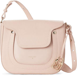 Patrizia Pepe Butterfly Rose Embossed Leather Shoulder Bag