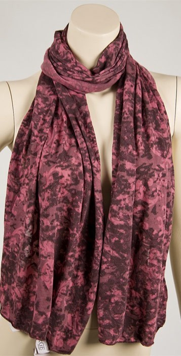 Erge Burnout Scarf in Foggy Pink/Brown