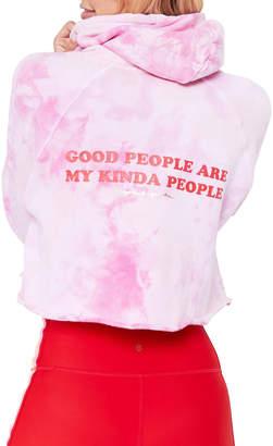 Spiritual Gangster Good People Stella Rocker Tie Dye Cropped Pullover Hoodie