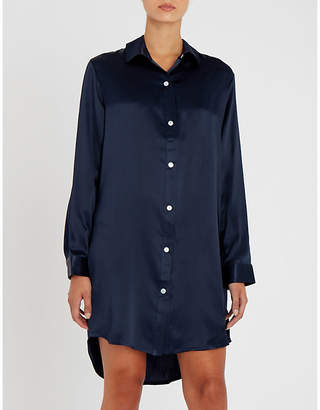 Derek Rose Bailey silk-satin nightshirt