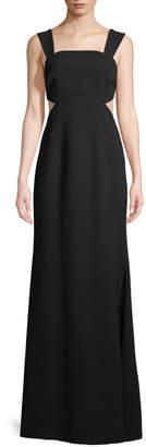 Jill Stuart Cutout Square-Neck Sleeveless Gown