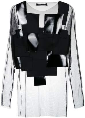 Anthony Logistics For Men Gloria Coelho tulle blouse