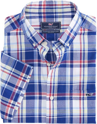 Vineyard Vines Short-Sleeve Palmer Hill Plaid Classic Tucker Shirt