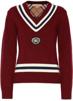 Burberry Appliqued wool and cashmere sweater