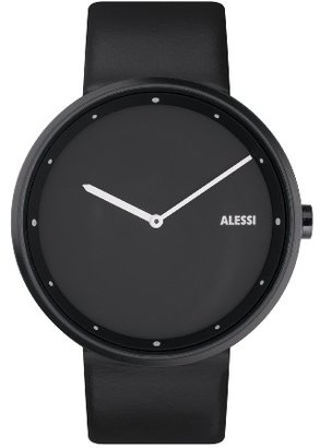 Alessi (アレッシー) - Alessiユニセックスal13003 Out _ Time BlackレザーStrap Watch