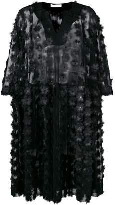 Peter Jensen floral net smock dress