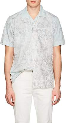 Barneys New York Men's Paisley Cotton Poplin Hawaiian Shirt