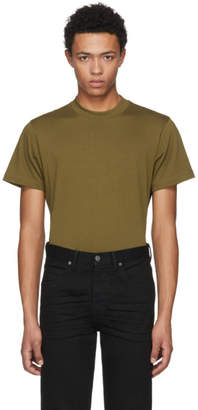 Helmut Lang Green Skinny Tall Military T-Shirt