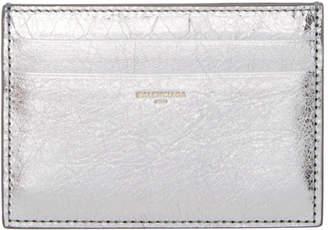 Balenciaga Silver Metallic Card Holder