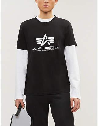 Alpha Industries Logo cotton-jersey T-shirt