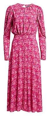 Rotate Women's N.51 Floral Print A-Line Maxi Dress