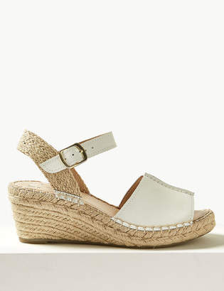 1f6f8831af M&S CollectionMarks and Spencer Leather Wedge Heel Espadrilles