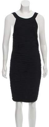 Chanel Ruffle Knit Sleeveless Dress