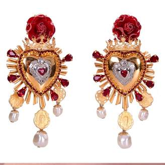 Dolce & Gabbana Red Metal Earrings
