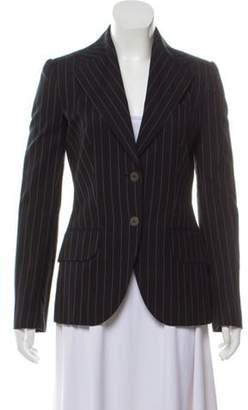 Dolce & Gabbana Pinstripe Structured Blazer Black Pinstripe Structured Blazer