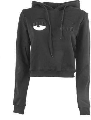 Chiara Ferragni Black Cotton Flirting Sweatshirt
