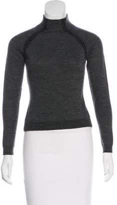 Philosophy di Alberta Ferretti Embellished Virgin Wool Sweater