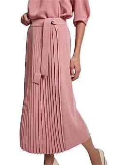 SABA Lillie Pleat Midi Skirt
