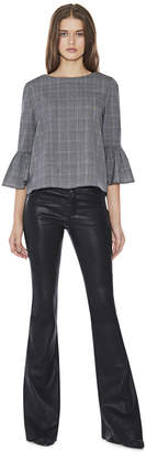 Alice + Olivia Leather Bell Pant
