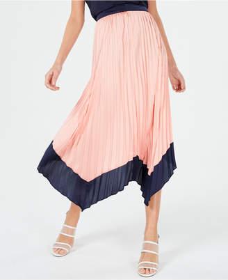 38768abf7 Bar III Asymmetrical Tipped Pleated Midi Skirt, Created for Macy's