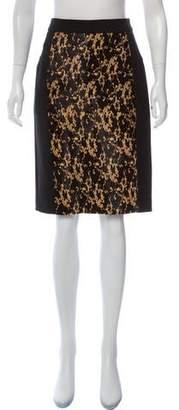 Burberry Pony Hair Animal Print Skirt