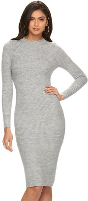 Women's Jennifer Lopez Ribbed Mockneck Sweaterdress $70 thestylecure.com