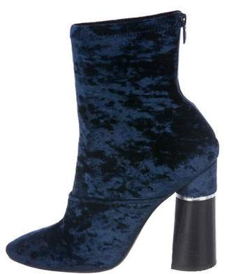 3.1 Phillip Lim Velvet Round-Toe Boots