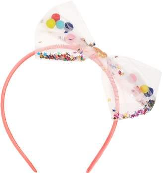 Billieblush Sequin Pompom Bow Headband