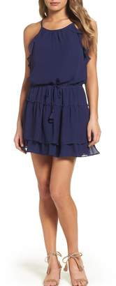 Greylin Navy Ruffle Dress