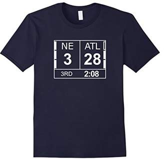 Mens NE 3 ATL Atlanta 28 Comeback Final 2 Sides Shirt Large