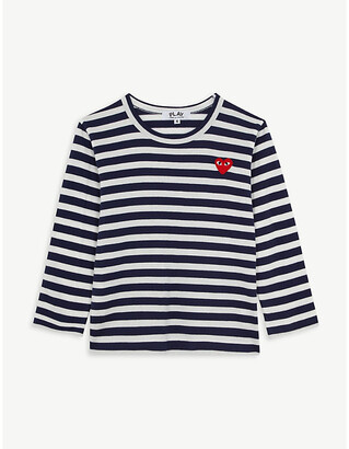 Comme des Garcons logo striped long-sleeve cotton T-shirt 2-6 years