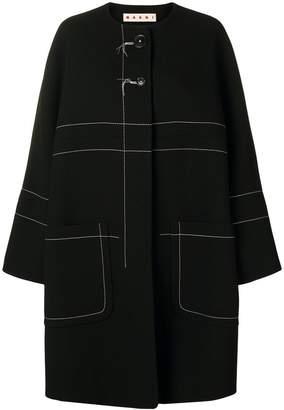 Marni contrast-stitch coat