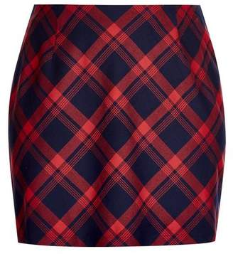Evans City Chic Red Checked Mini Skirt