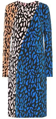 Diane von Furstenberg Printed long-sleeved dress