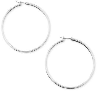 GUESS Earrings, Silver-Tone Hoop