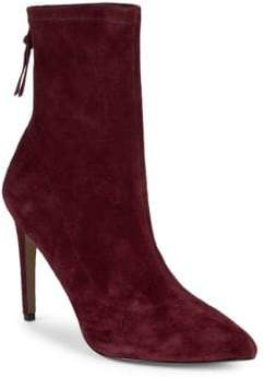 Ava & Aiden Amelia Stretch Suede Booties