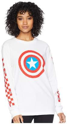 Vans Captain Shields Long Sleeve Boyfriend Tee Women's T Shirt
