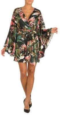 GUESS Pansy Tropical-Print Dress