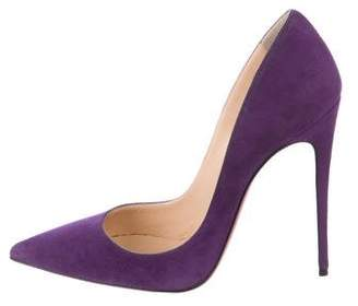 Christian Louboutin Pointed-Toe Suede Pumps