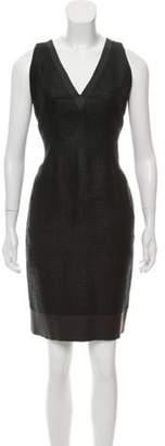 Fendi Sleeveless Mini Dress Black Sleeveless Mini Dress
